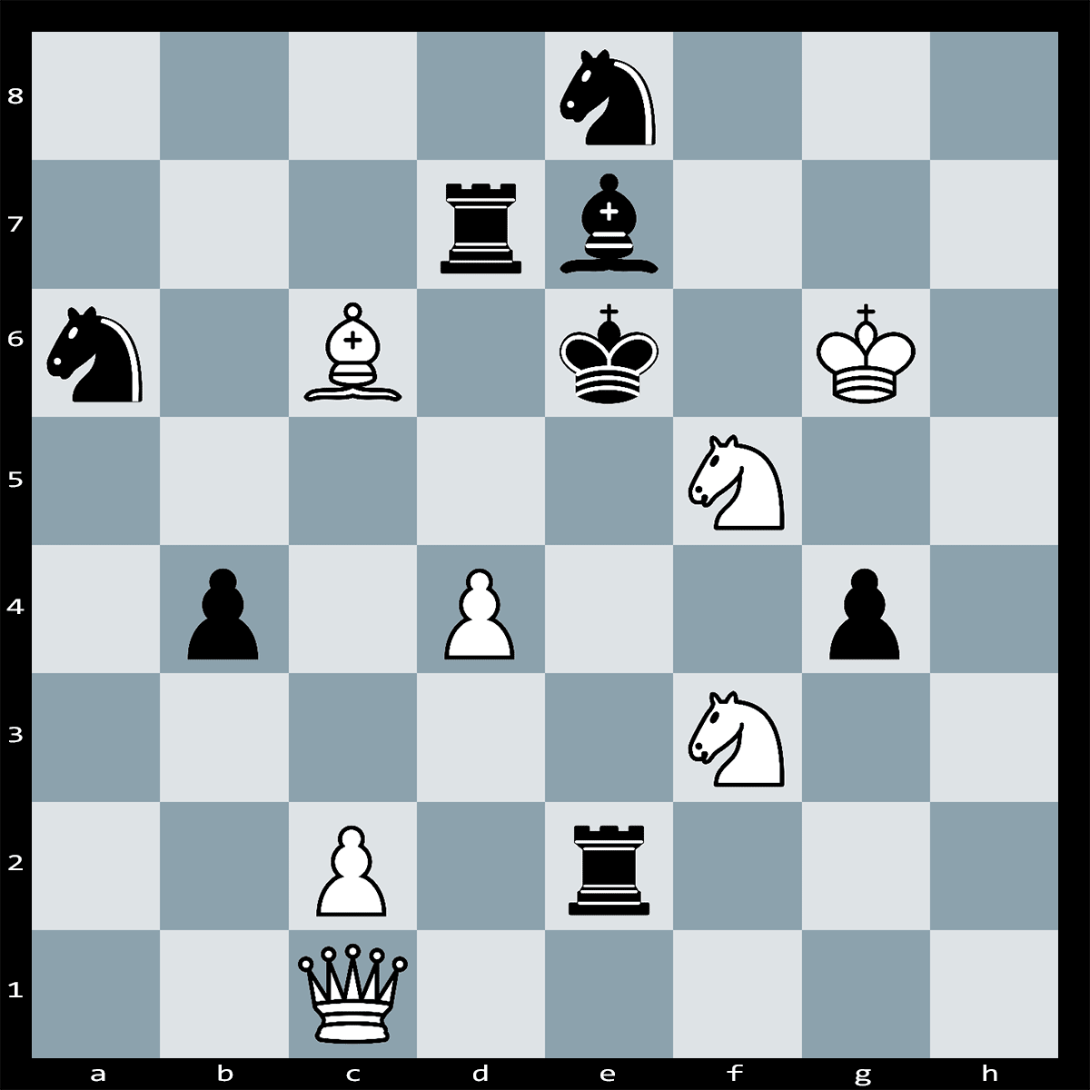 Chess Puzzle #151 - Find checkmate in four moves, white to play.
