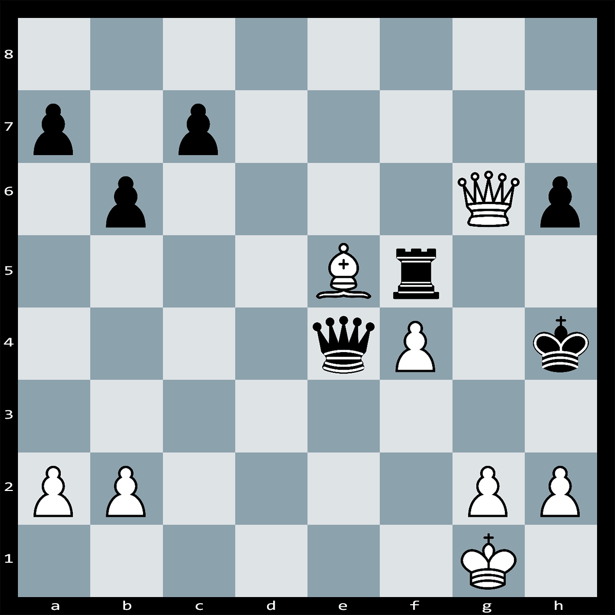 Chess Puzzle #158 - Find checkmate in three moves, white to play.