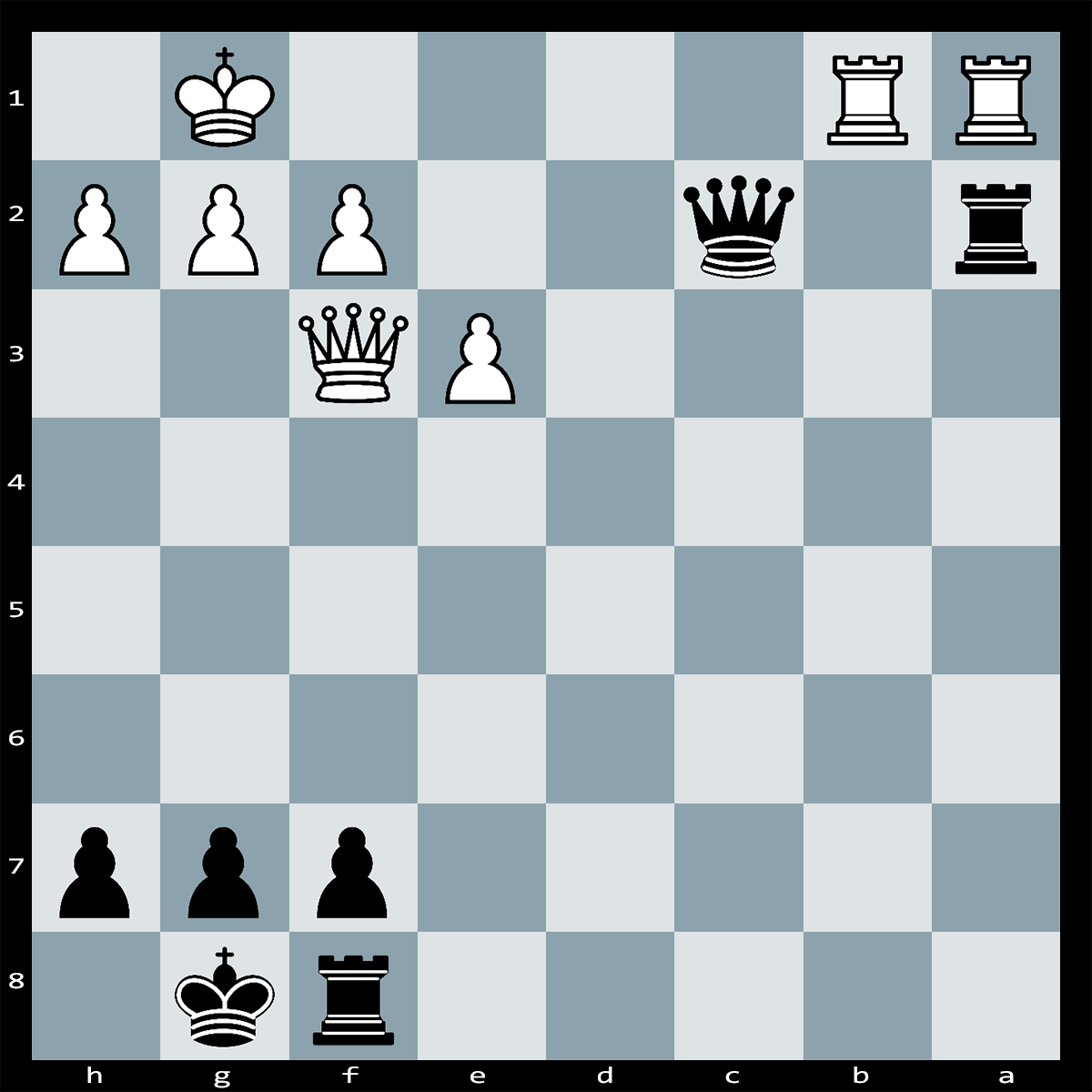 Puzzle #175 | White have an extra pawn on the board, but it is black to play and win the game. Find the best move.