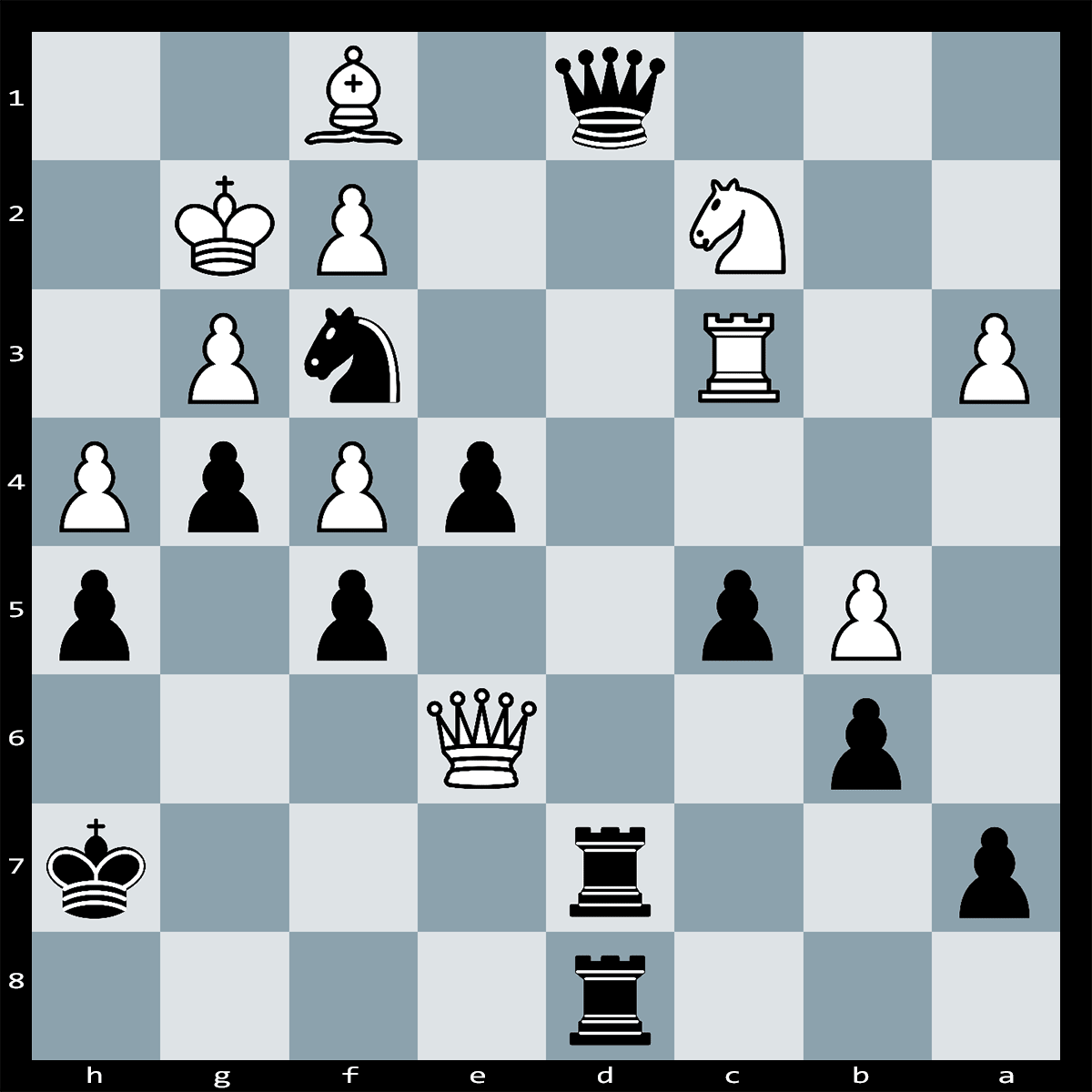 White to play and mate in Five | Chess Puzzle #215