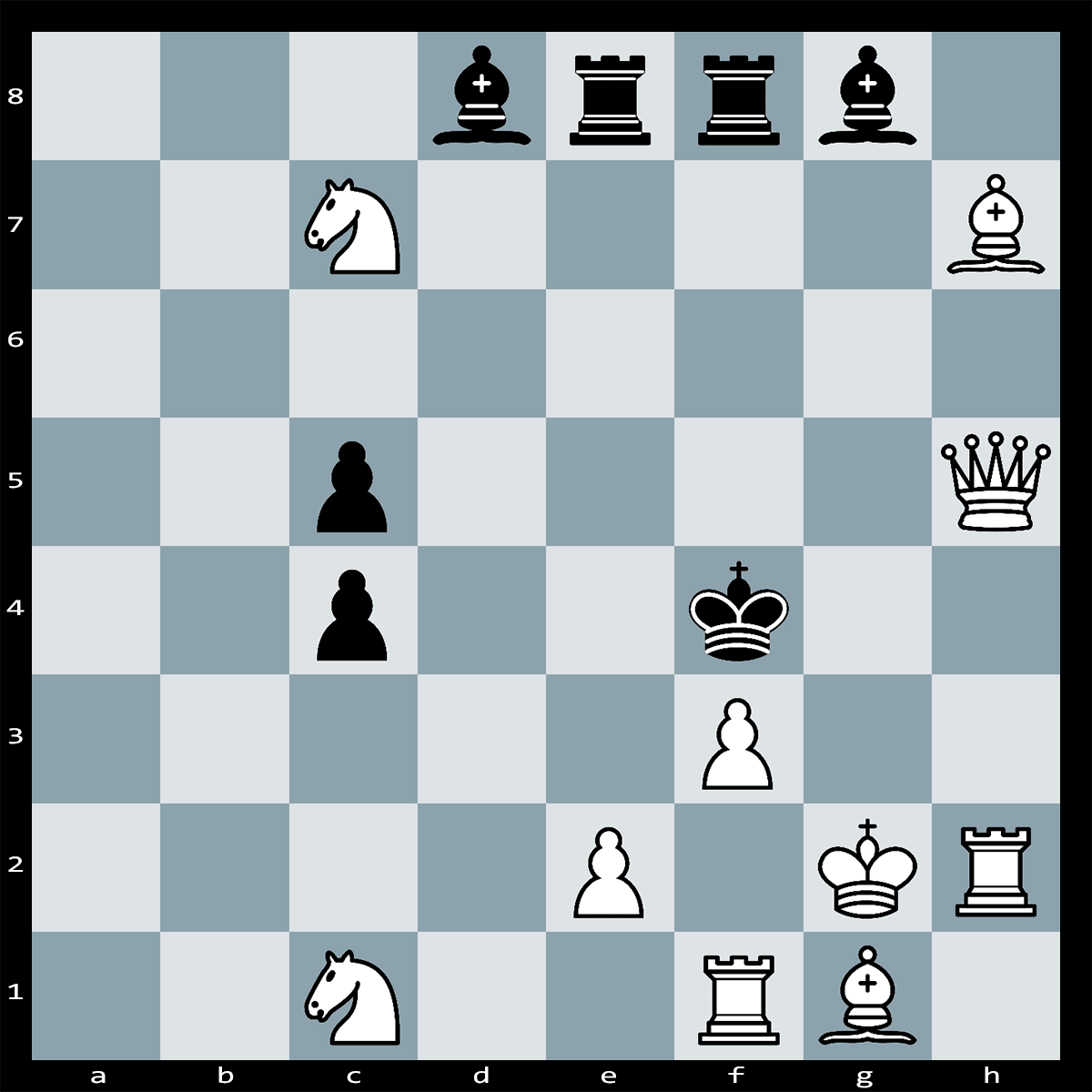 Mate in 2 Moves, White to Play - Chess Puzzle #25