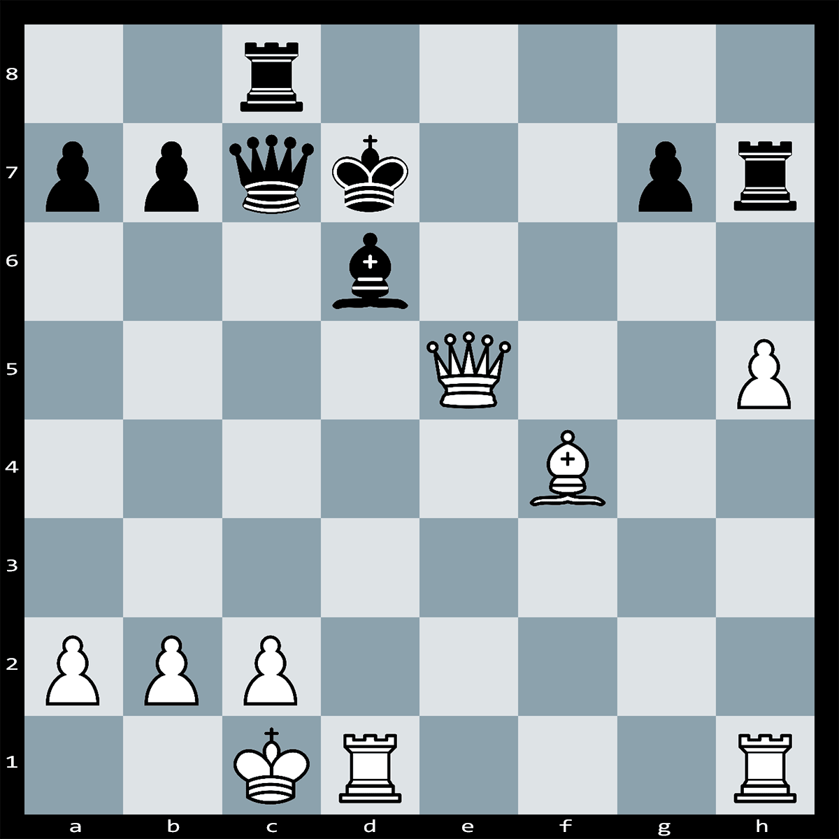 White can force checkmate in 4 moves. Can you see how?
