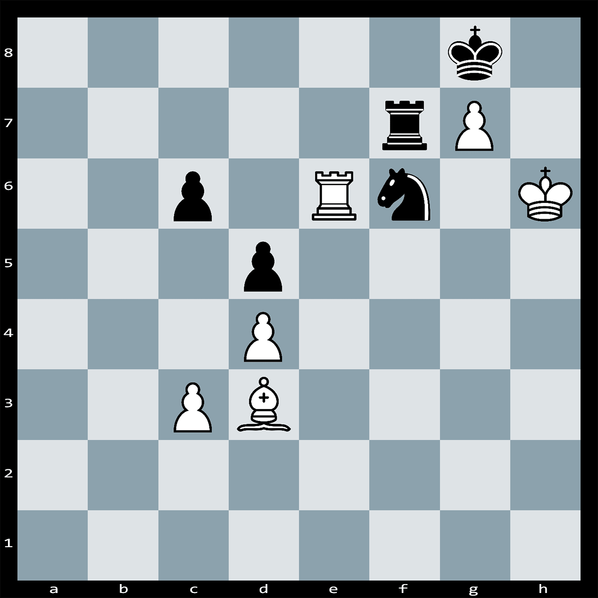 Chess Puzzle #276 | White can deliver checkmate in two moves Can you see how? Difficulty: Easy.
