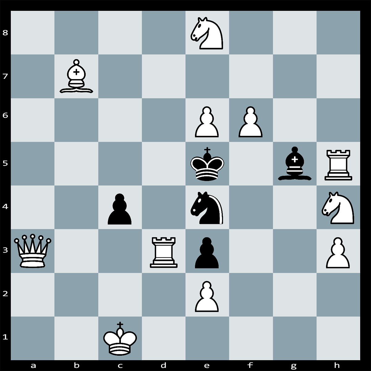 Chess Puzzle #310 | White can deliver checkmate in two moves Can you see how? Difficulty: Hard.