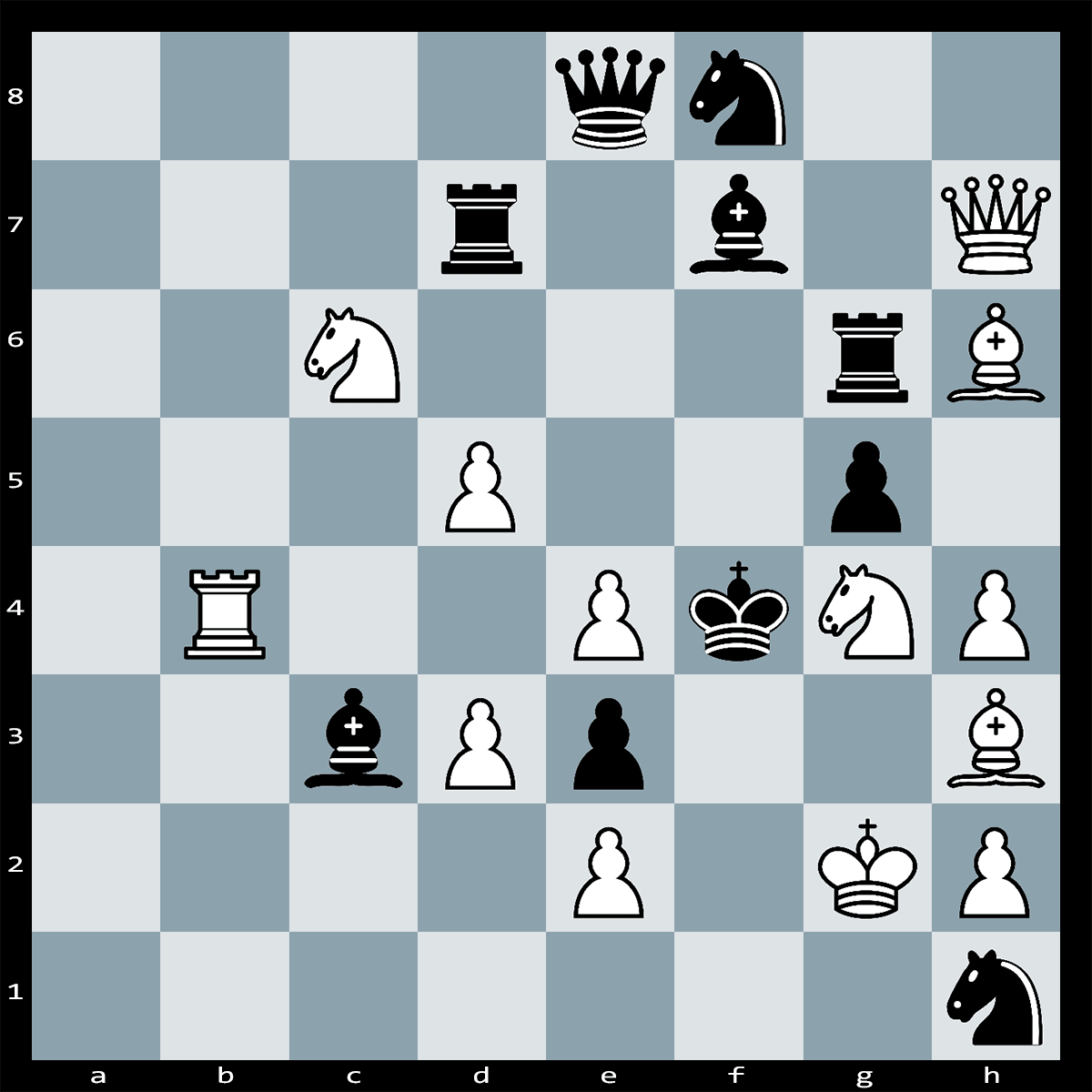 Find Check Mate in Two Moves, white to Play - Chess Puzzle #40