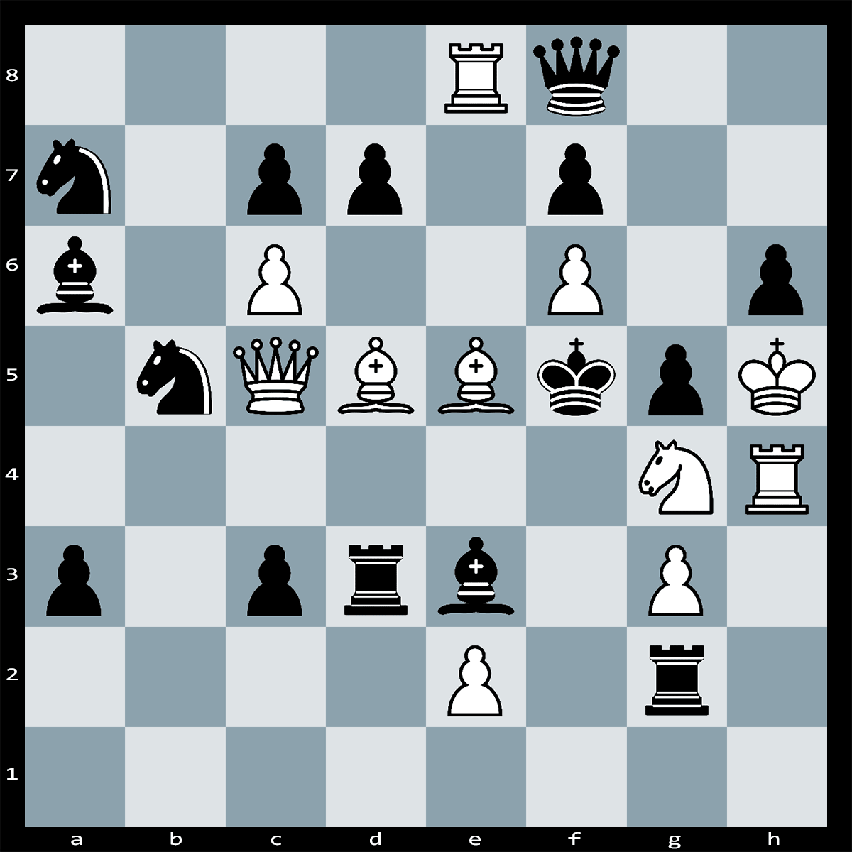 Find the Best Move, Mate in Two White to Play