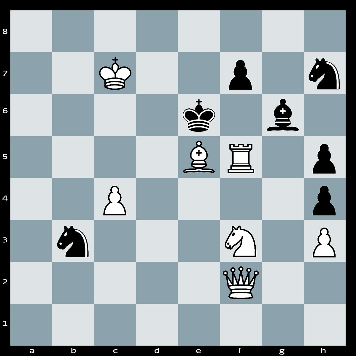 White to Play and Mate in Two Moves