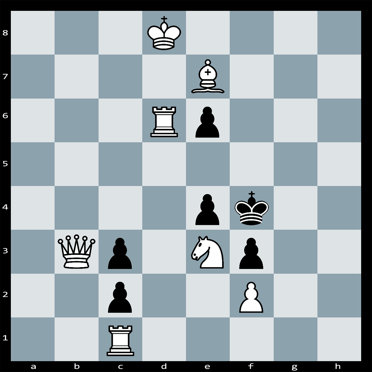 White to Play and Mate in 2 Moves