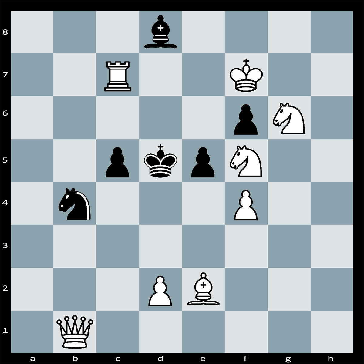 Chess Puzzle #54 - White to Play and Mate in Two Moves