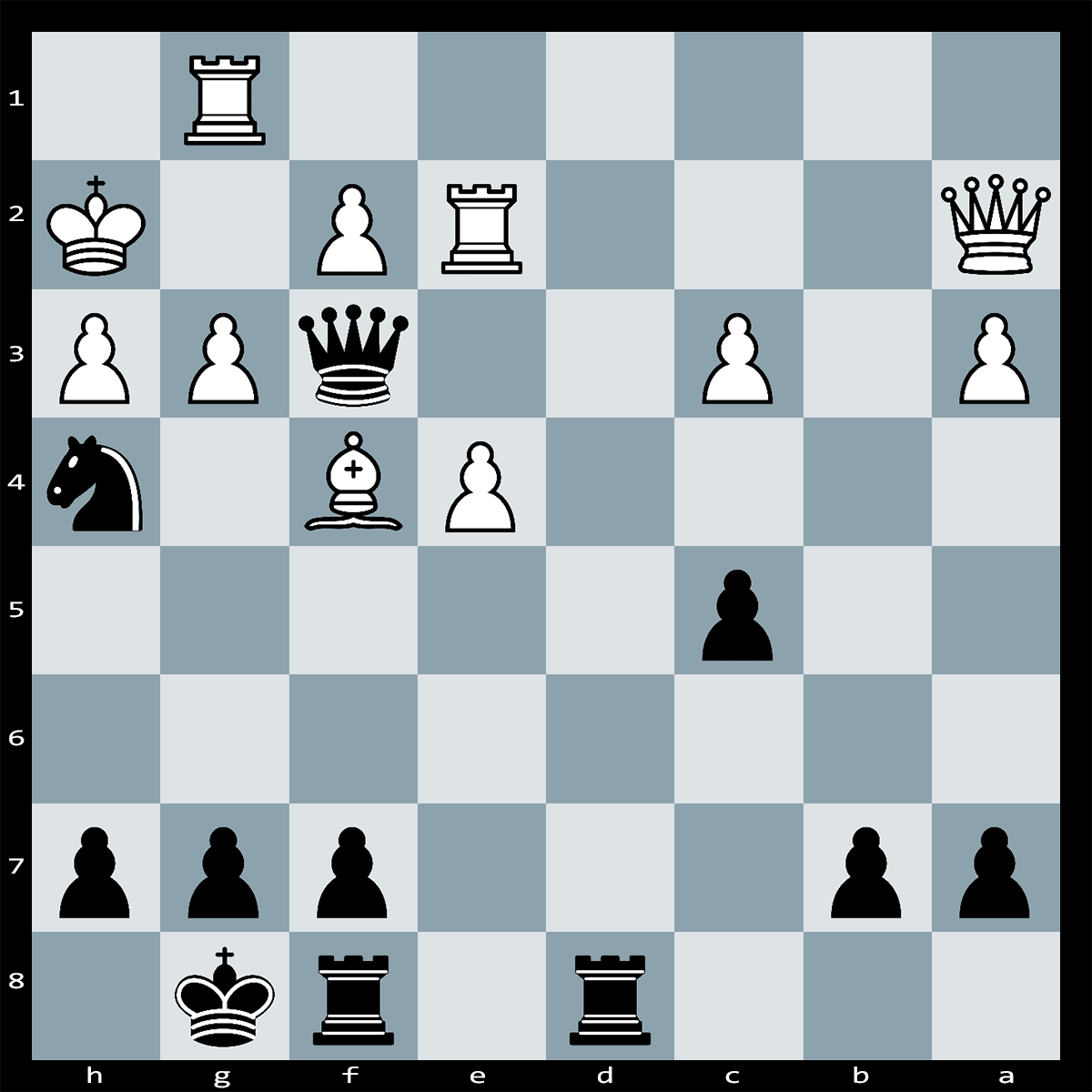 Mate in Five, Black to Play - Chess Puzzle #84